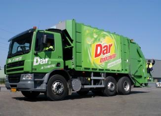 Vuilniswagen van de Dar